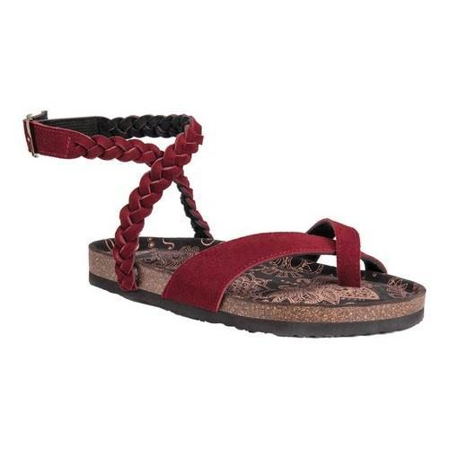 MUK LUKS Estelle Ankle Strap Sandal(Women's) -Burnt Red Polyurethane Buy Cheap Pre Order VRbFj