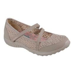 Women's Skechers Be-Light Florescent Mary Jane Taupe - Thumbnail 0