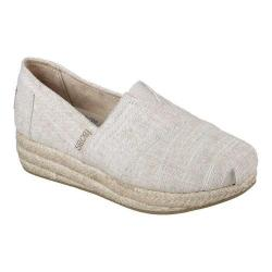 Women's Skechers BOBS Highlights Sand Sparkle Wedge Espadrille Natural
