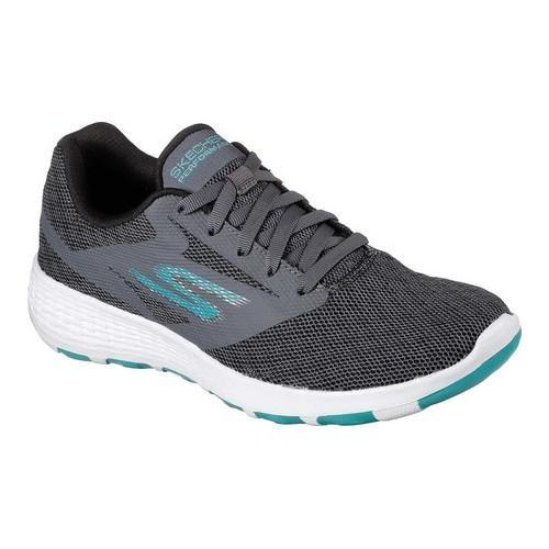 f57e245316d5 Shop Women s Skechers GOwalk Cool Walking Shoe Charcoal Turquoise ...