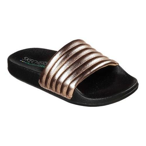 3db70aad85a4 Shop Women s Skechers Pop Ups Camp Gold Slide Sandal Rose Gold - Free  Shipping On Orders Over  45 - Overstock.com - 20461714