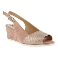 Women's Spring Step Evia Slingback Light Pink Leather