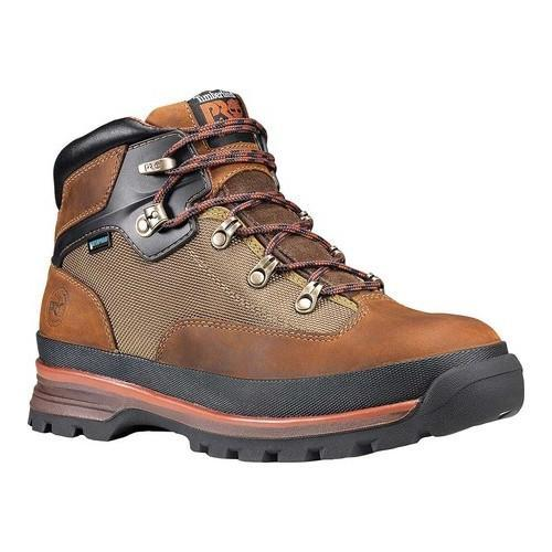 ca6d11dce54 Men's Timberland PRO Soft Toe Waterproof Euro Hiker Brown Full Grain  Leather/Sesame Nylon