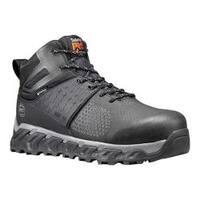 Men's Timberland PRO Ridgework Mid WP Composite Toe Work Boot Black Ever-Guard™ Leather