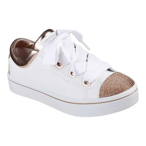 118e1d7ad798 Shop Women s Skechers Hi-Lites Space Dancer Sneaker White Rose Gold - Free  Shipping Today - Overstock - 20474818