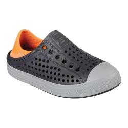 Boys' Skechers Guzman Steps Aqua Surge Slip-On Shoe Charcoal/Orange