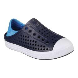 Boys' Skechers Guzman Steps Aqua Surge Slip-On Shoe Navy/Blue