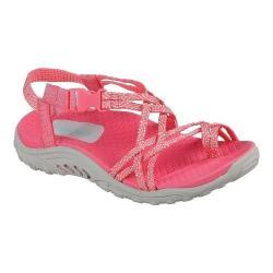 Girls' Skechers Reggae Miss Adventure Toe Loop Sandal Coral/Multi