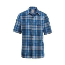 Men's Woolrich Keep It Moving Short Sleeve Plaid Shirt Mountain Blue