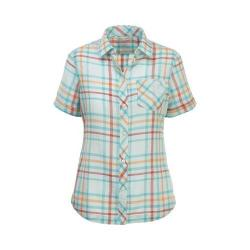 Women's Woolrich Northern Hills Short Sleeve Plaid Shirt Aqua Sky (3 options available)
