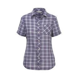 Women's Woolrich Northern Hills Short Sleeve Plaid Shirt Violet Indigo