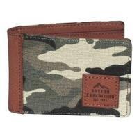 Men's Buxton Expedition II Huntington Gear RFID Slimfold Wallet Camouflage