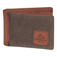 Men's Buxton Expedition II Huntington Gear RFID Slimfold Wallet Olive