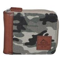 Men's Buxton Expedition II Huntington Gear RFID Zip Wallet Camouflage