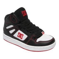 Boys' DC Shoes Pure Hi-Top Sneaker Black/Red/White