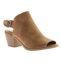 Women's Portland Boot Company Mia Peep Toe Bootie Tan Polyurethane