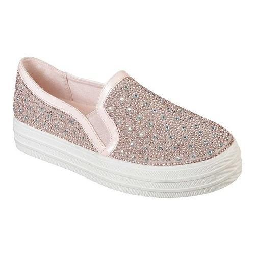 9a510287a03b Shop Women s Skechers Double Up Glitzy Gal Platform Sneaker Rose Gold -  Free Shipping Today - Overstock - 20488623