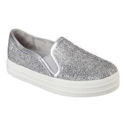 Women's Skechers Double Up Glitzy Gal Platform Sneaker Silver