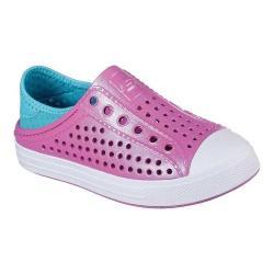 Girls' Skechers Guzman Steps Slip-On Sneaker Hot Pink/Turquoise