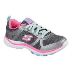 Girls' Skechers Trainer Lite Snazzy Jazzy Sneaker Charcoal/Hot Pink