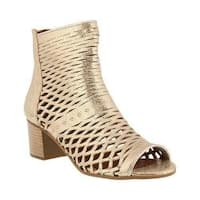 Women's Spring Step Awow Cage Shoe Gold Leather