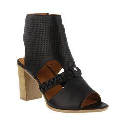 Women's Spring Step Farrah Heeled Sandal Black Leather