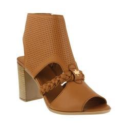 Women's Spring Step Farrah Heeled Sandal Camel Leather