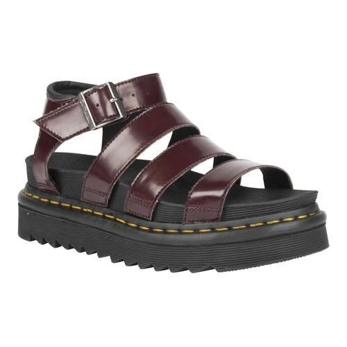 Shop Women s Dr. Martens Vegan Blaire Strappy Sandal Cherry Red Black  Cambridge Brush Soft Polyurethane - Free Shipping Today - Overstock -  20516495 b0f49a484