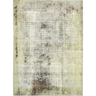 Hand Knotted Ultra Vintage Antique Wool Area Rug - 8' 4 x 11' 7