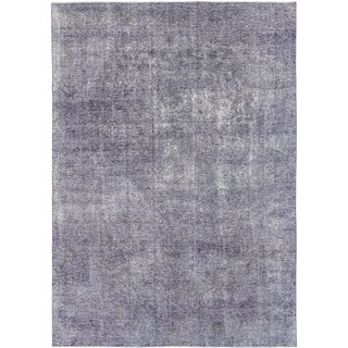 Hand Knotted Ultra Vintage Wool Area Rug - 7' 10 x 11' 3