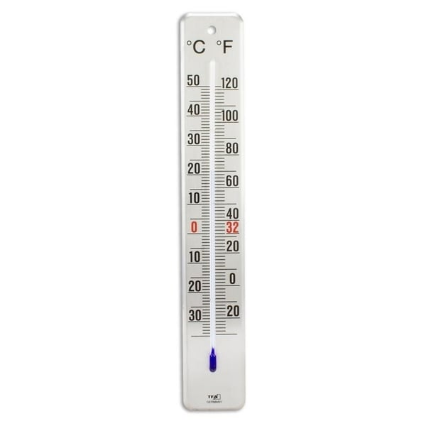 TFA 12.2046.61 Stainless Steel 11 Inch Indoor/Outdoor Thermometer