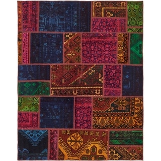 Hand Knotted Ultra Vintage Antique Wool Area Rug - 6' x 7' 6