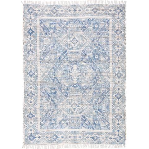 "Grand Bazaar Shira Blue Rug (3'6"" x 5'6"") - 3'6"" x 5'6"""