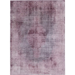 Hand Knotted Ultra Vintage Wool Area Rug - 9' 9 x 13' 2