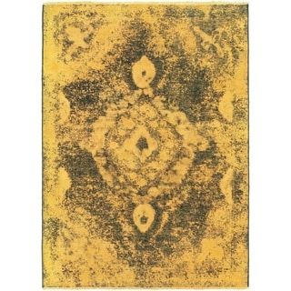 Hand Knotted Ultra Vintage Wool Area Rug - 3' 2 x 4' 6