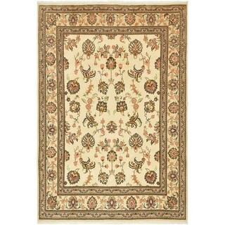 Hand Knotted Yazd Wool Area Rug - 6' 8 x 9' 8