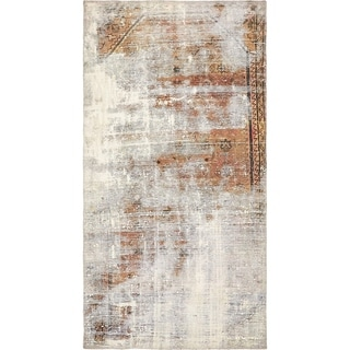 Hand Knotted Ultra Vintage Antique Wool Area Rug - 2' 11 x 5' 5