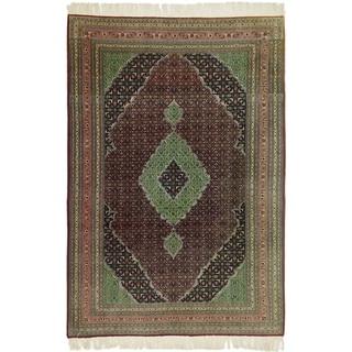 Hand Knotted Tabriz Silk & Wool Area Rug - 6' 8 x 10' 2
