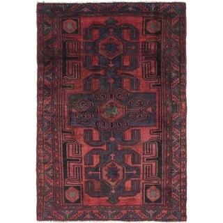 Hand Knotted Zanjan Semi Antique Wool Area Rug - 4' 5 x 6' 6