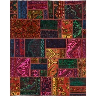 Hand Knotted Ultra Vintage Antique Wool Area Rug - 6' x 7' 7