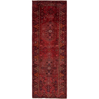 Hand Knotted Zanjan Semi Antique Wool Runner Rug - 4' 2 x 12' 8