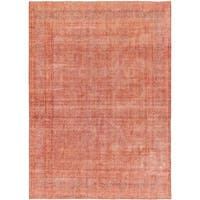 Hand Knotted Ultra Vintage Wool Area Rug - 9' 8 x 13' 6