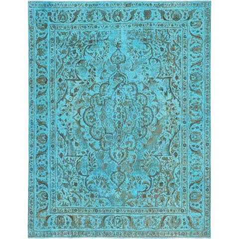 Hand Knotted Ultra Vintage Wool Area Rug - 9' 7 x 12' 4