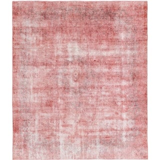 Hand Knotted Ultra Vintage Wool Area Rug - 9' 8 x 11'