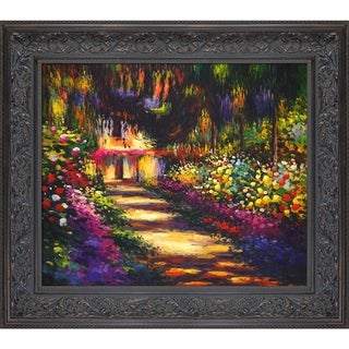 Claude Monet 'Pathway in Monet's Garden at Giverny' Hand Painted Oil Reproduction