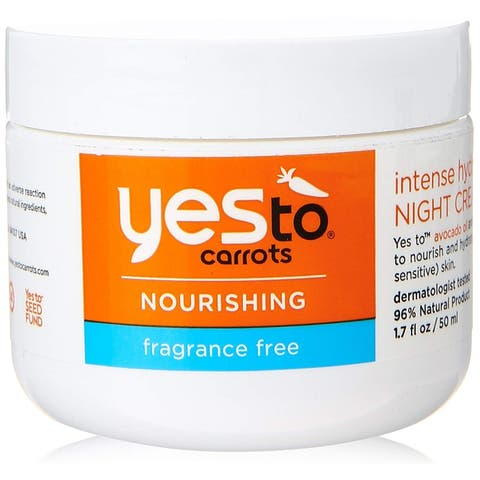 Yes To Carrots Nourishing Fragrance Free Intense Hydration Night Cream, 1.7 Oz