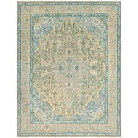 Hand Knotted Tabriz Semi Antique Wool Area Rug - 9' 8 x 12' 8