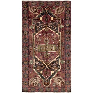 Hand Knotted Zanjan Semi Antique Wool Area Rug - 5' 2 x 9' 9
