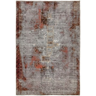 Hand Knotted Ultra Vintage Antique Wool Area Rug - 3' 8 x 5' 7