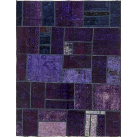 Hand Knotted Ultra Vintage Antique Wool Area Rug - 5' 10 x 7' 7
